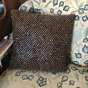Seventies Vintage Wood Bead Pillow Beaded 70's